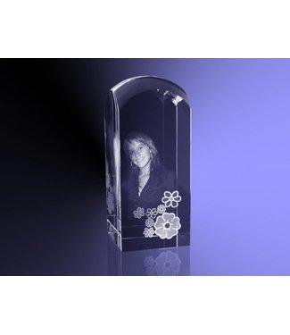 2D foto in glas - Koepel 5,5x5,5x13 cm