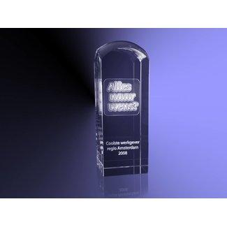 2D foto in glas - Koepel 6x6x17 cm