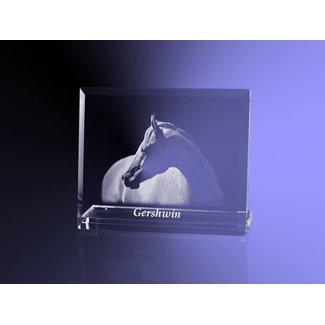 2D foto in glas - Vlakglas horizontaal met facet en voet