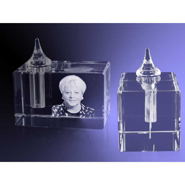 2D foto in glas - Urn rechthoek