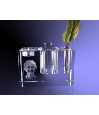 2D foto in glas - Urn groot