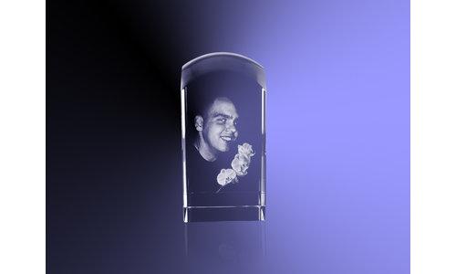Foto 2D in kristal aandenken