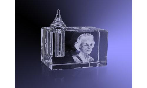Foto 3D in kristal aandenken