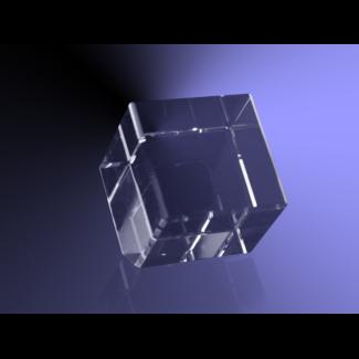 2D foto in glas - Kubus schuin