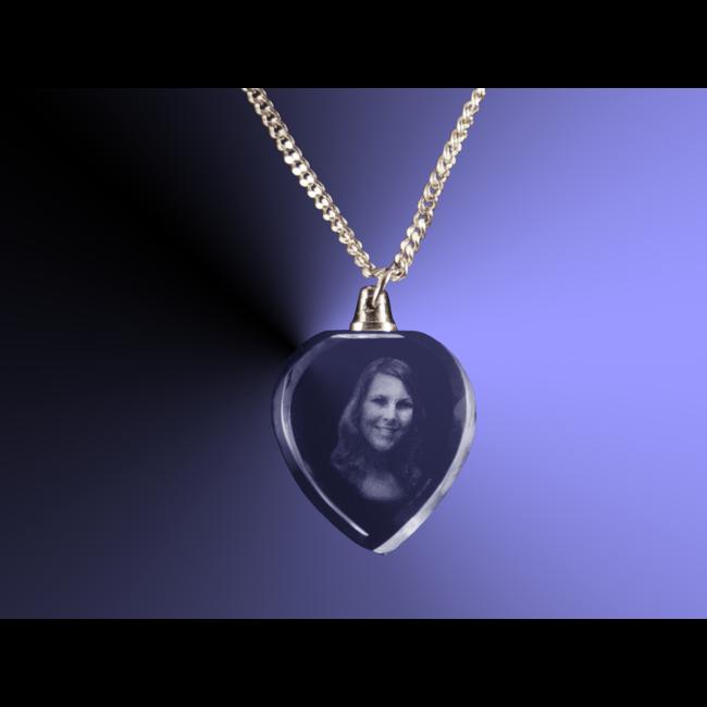 2D foto in glas - Hanger hart