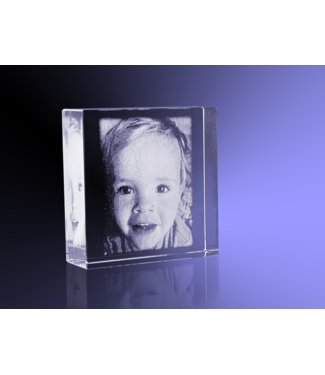 2D foto in glas - Vierkant blok - 6x6x2 cm