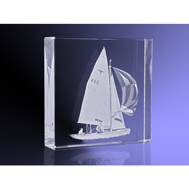 2D foto in glas - Vierkant blok  8x8x2 cm
