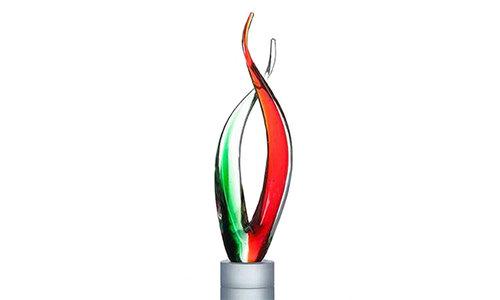 Awards van gekleurd glas