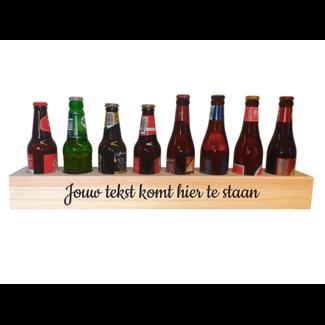 Halve meter bier met gegraveerde tekst
