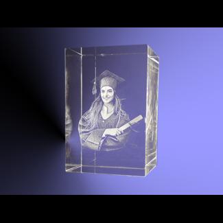 3D foto in glas - Rechthoek Blok - 6x6x9 cm