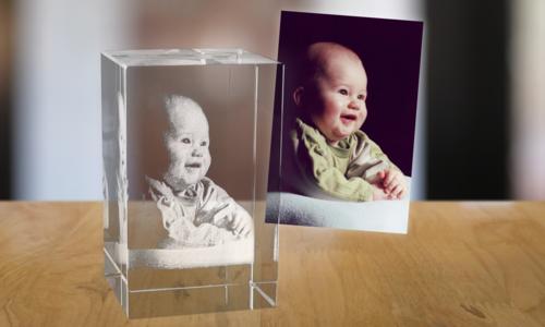 2D foto in glas