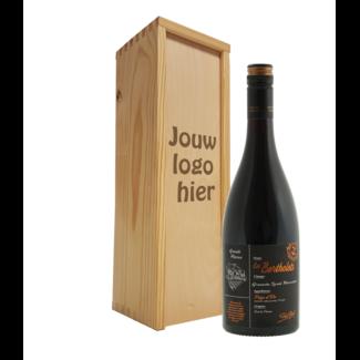 Wijnpakket met gegraveerde deksel en keuze fles wijn