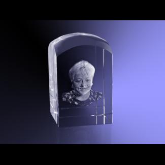 3D foto in glas - Koepel 5x5x8 cm