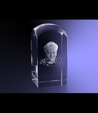 3D foto in glas - Koepel 5x5x10 cm