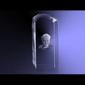 3D foto in glas - Koepel 5,5x5,5x13 cm