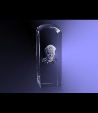3D foto in glas - Koepel 6x6x17 cm