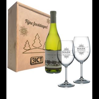 Wijnpakket met glazen - Circle of life White