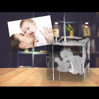 3D foto in glas - Kubus 5 cm