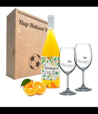 Wijnpakket met glazen - Tarongino Orange