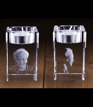 3D foto in glas - Waxinelichthouder rechthoek