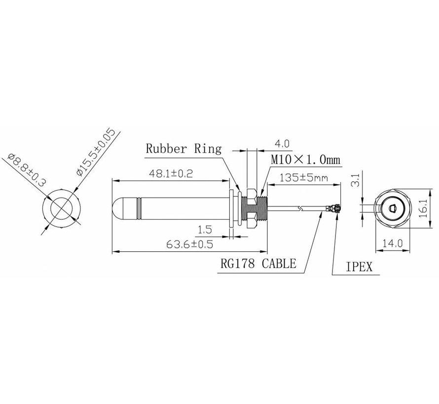 433 Mhz RF Antenna 2dBi