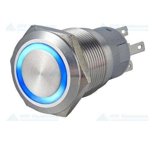 Pushbutton Switch with Illuminated Ring, Blue