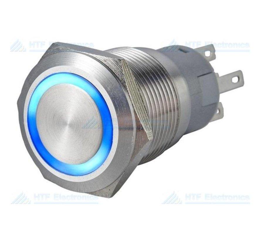 Drukschakelaar met Ringverlichting Blauw