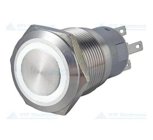 Pushbutton Switch with Illuminated Ring White