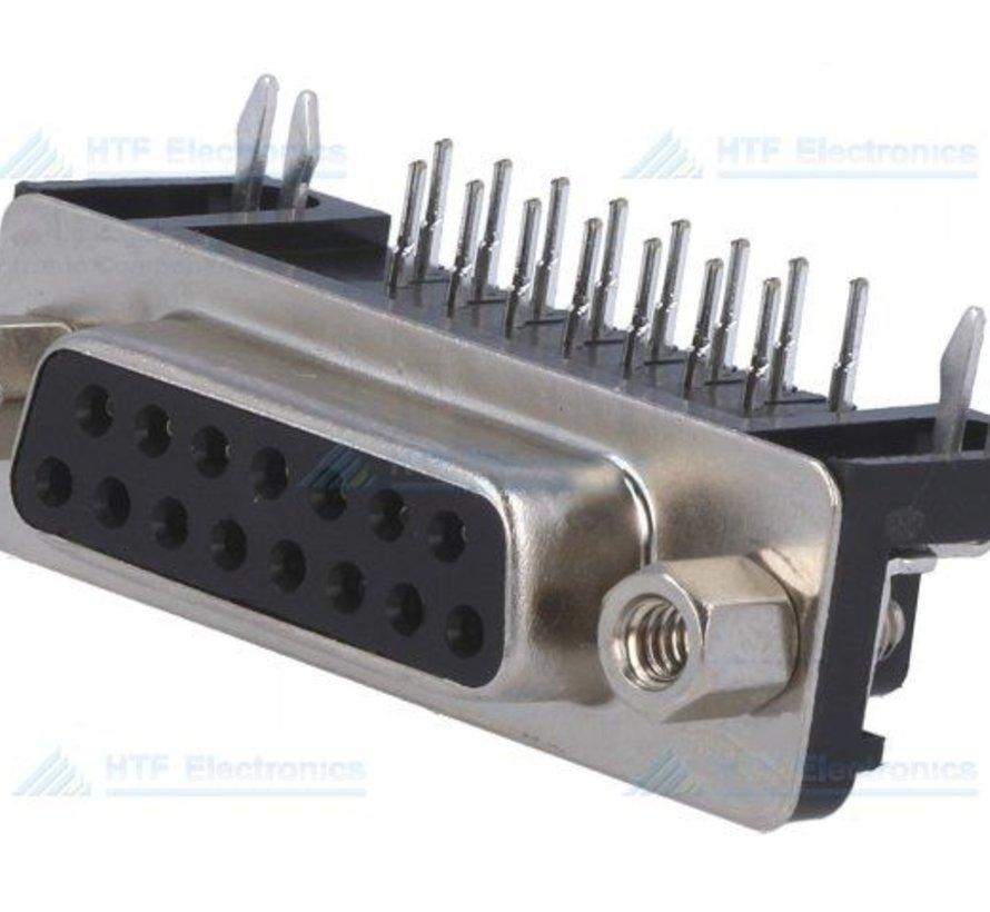 D-SUB PCB Connector Female 15 Pin