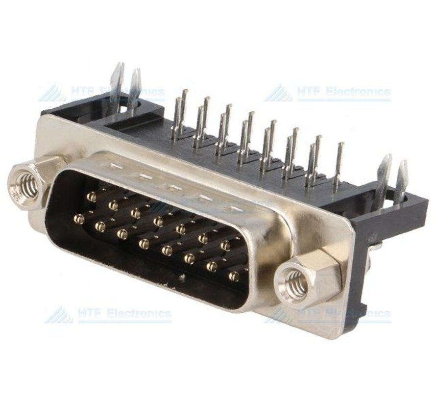D-SUB Print Connector Male 15 Pin