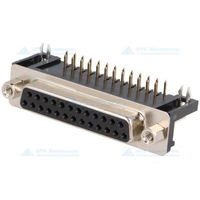 Connfly D-SUB Print Connector Male 25 Pin