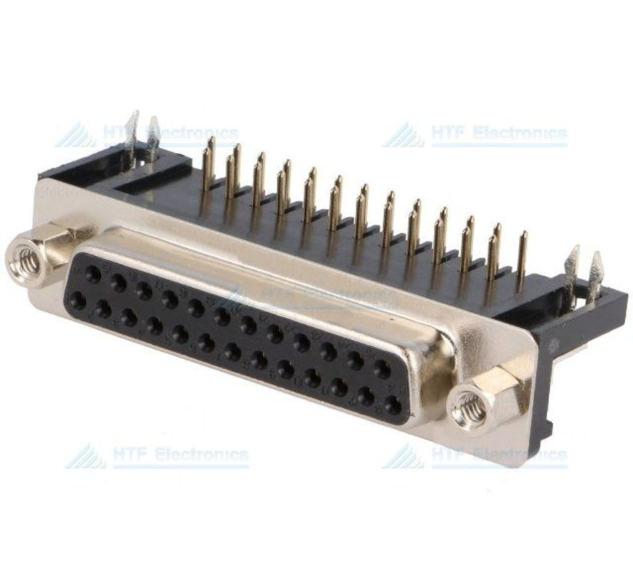 D-SUB PCB Connector Male 25 Pin
