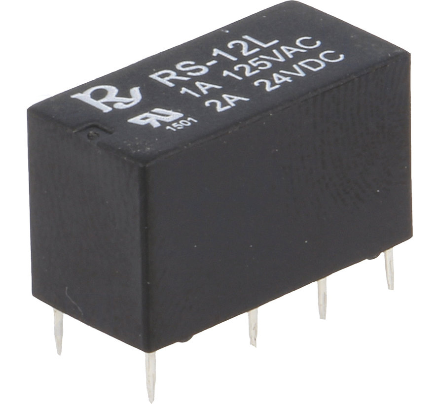 Relay 12V DC DPDT 1A Miniature, Rayex
