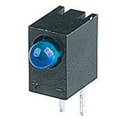 LED Blauw 3mm Met Houder