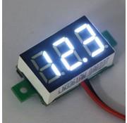 "Mini Voltmeter Wit 0.36"""