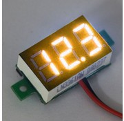 "Mini Volt Meter Yellow 0.36"""