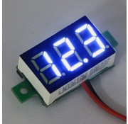 "Mini Volt Meter Blue 0.36"""