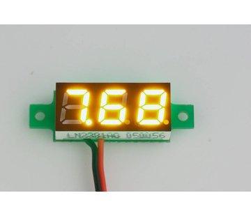 "Mini Volt Meter Yellow 0.28"""