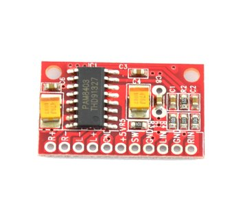 Mini Versterker 2 x 3 Watt PAM8403 Rood