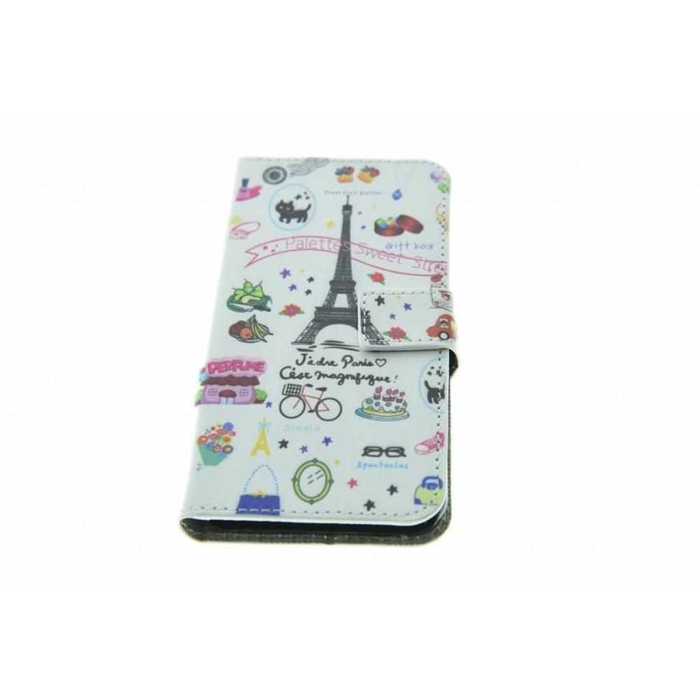 iPhone 6/6S Book Case Eiffeltoren Print White