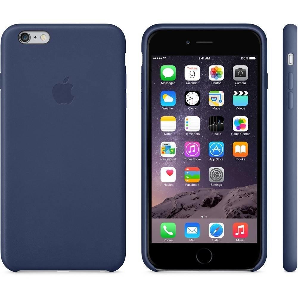 Apple Apple iPhone 6 Plus Leather Case Middenacht Blauw