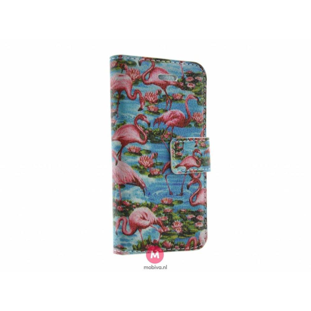 Mobiva iPhone 5/5S/SE Mobiva Book Case Flamingo