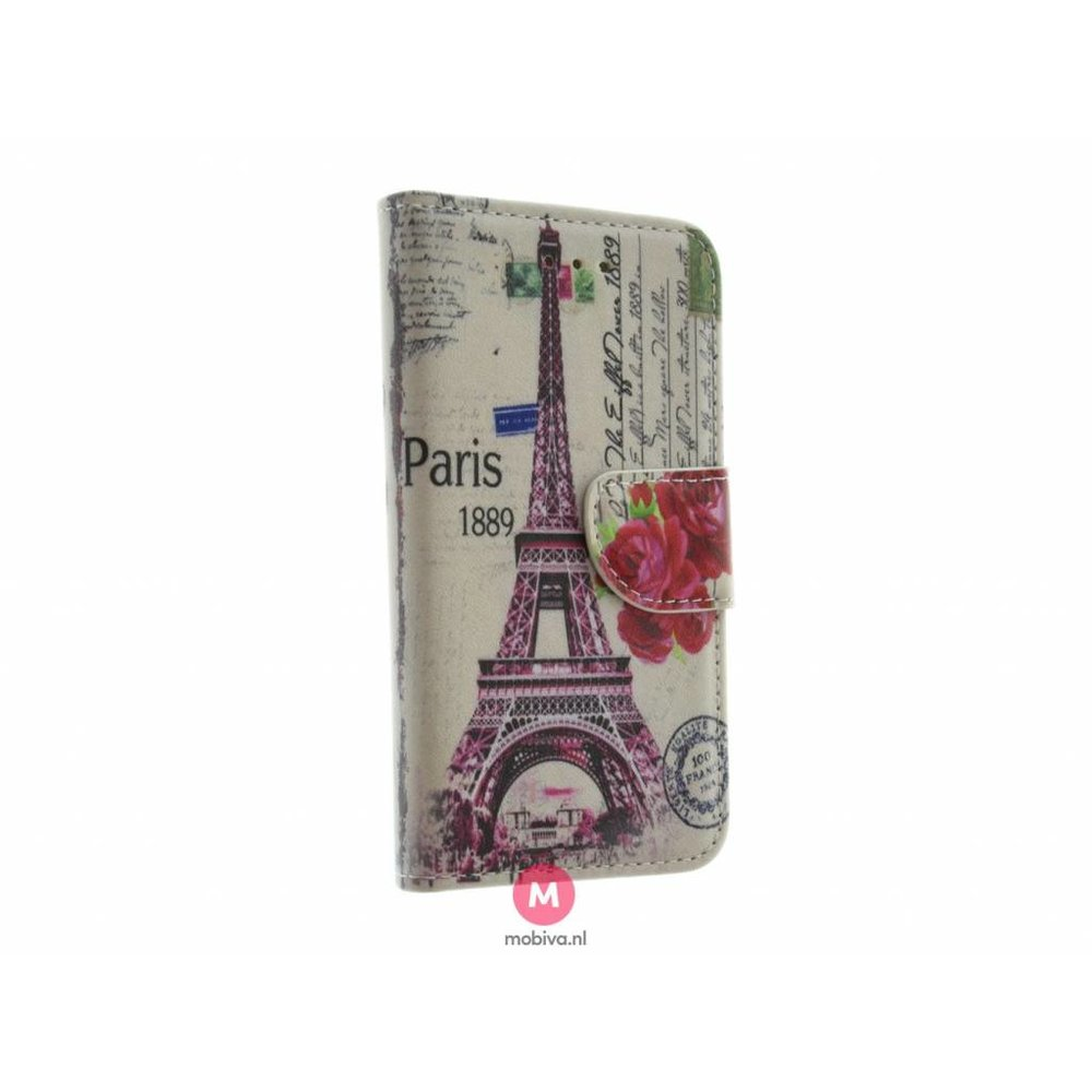 Mobiva iPhone 5/5S/SE Book Case Eiffeltoren/Big Ben