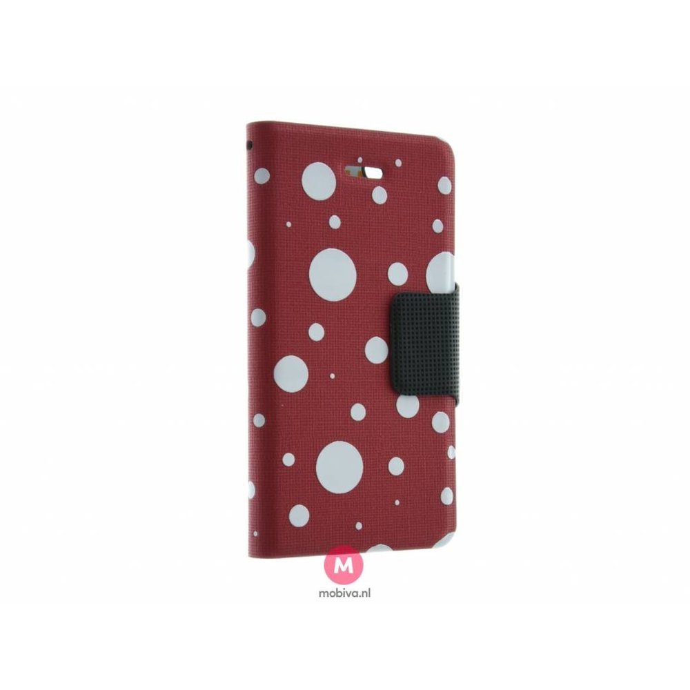 Mobicase iPhone 5/5S/SE Mobicase Book Case Rood Dots