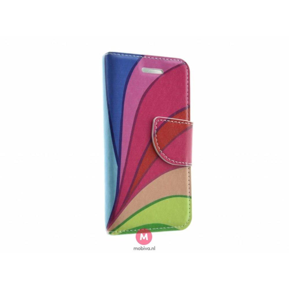 Mobiva iPhone 5/5S/SE Mobiva Book Case Color Stripes