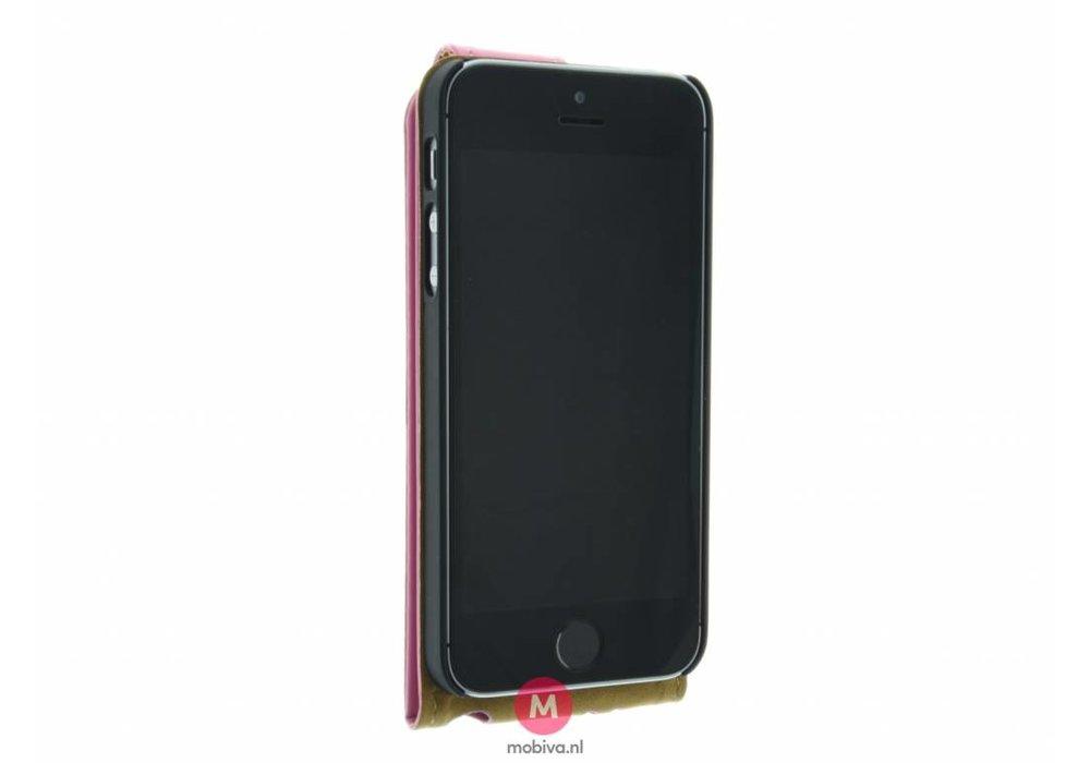 Mobicase iPhone 5/5S/SE Mobicase Flip Case Roze