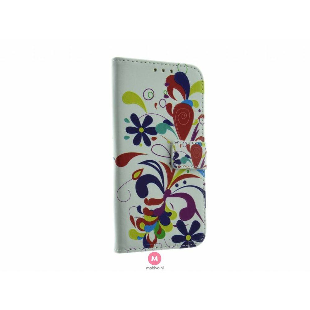 Mobicase Samsung Galaxy S6 Edge Book Case Flower Paint