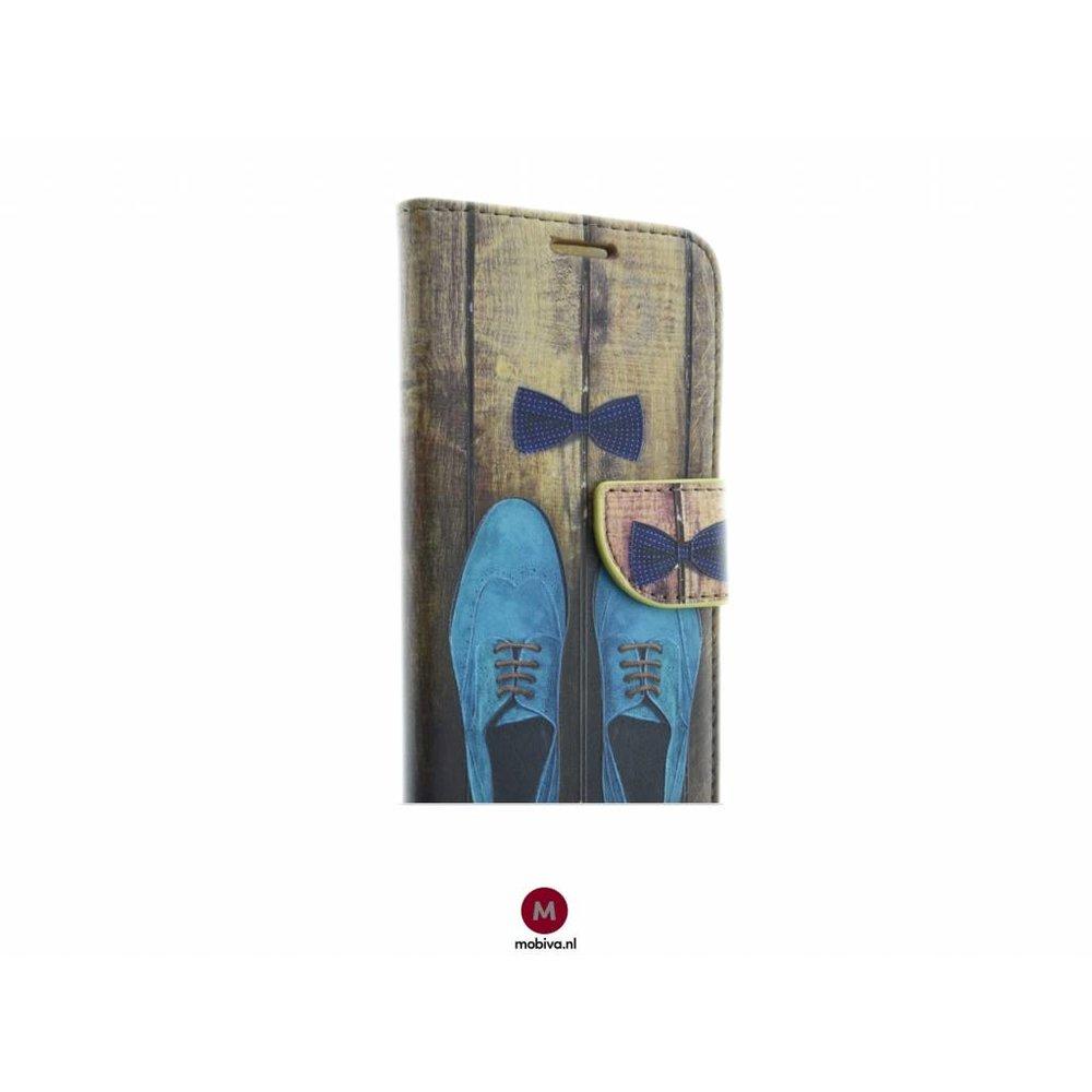 Mobicase Samsung Galaxy S7 Book Case Shoe Print