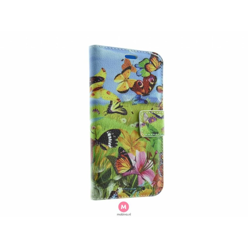 Mobicase Samsung Galaxy S7 Book Case Vlinders