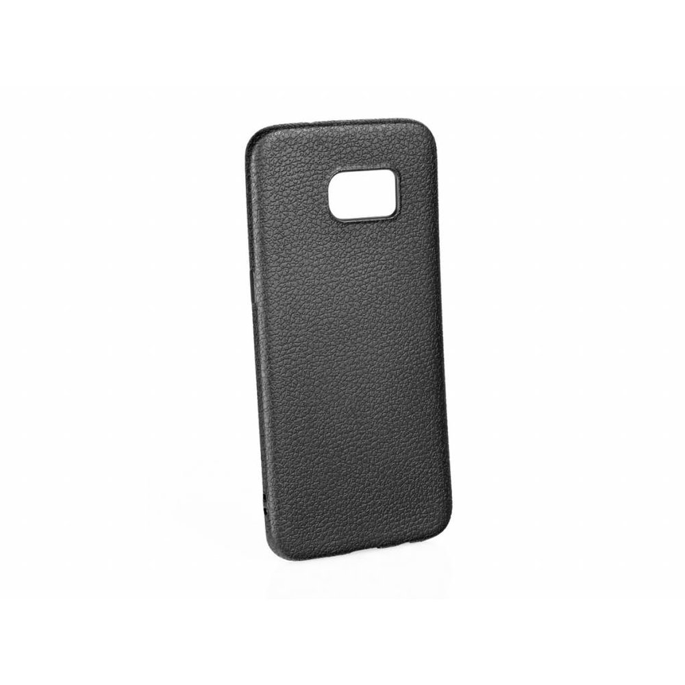 Mobicase Samsung Galaxy S7 Edge Leather Look Black Flex Case